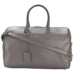 Yves Saint Laurent Veal Grey Duffle Bag