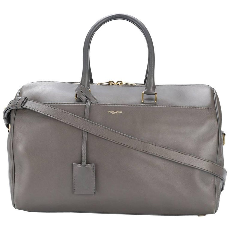 Yves Saint Lau Veal Grey Duffle Bag