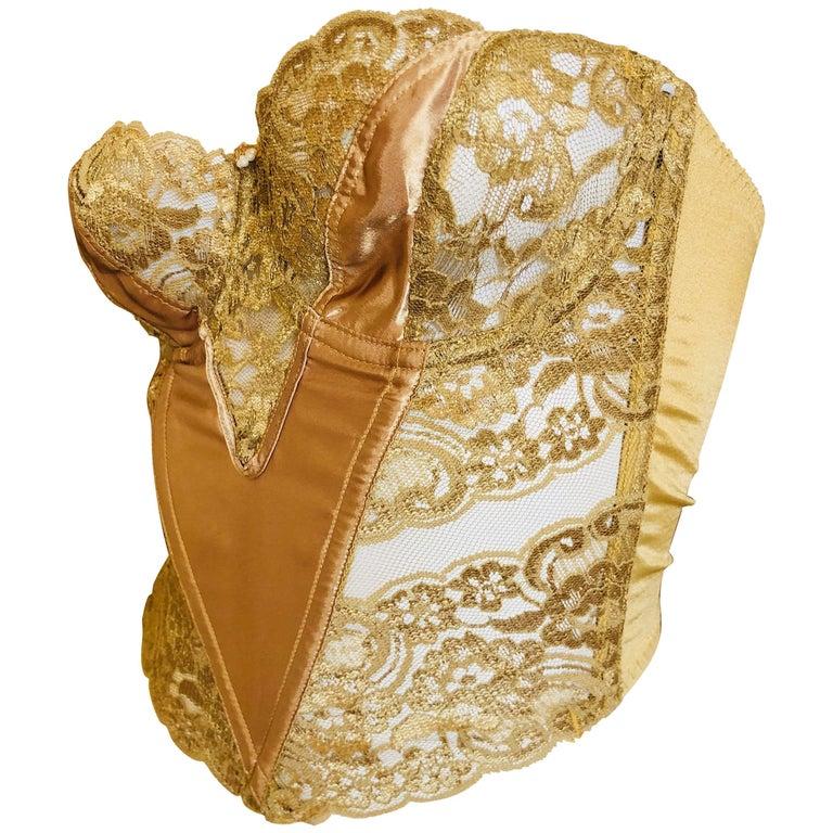 a45bf131a52 Christian Dior Gold Corset 34C at 1stdibs