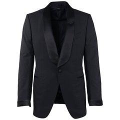 Tom Ford Black Wool Satin Lapel O'Connor 2 Piece Tuxedo