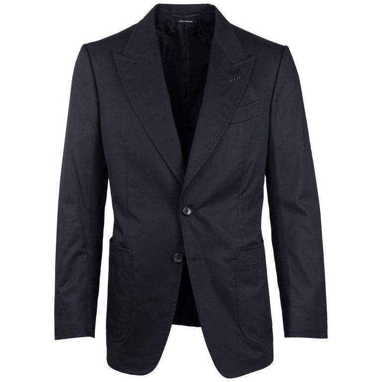 Tom Ford Black 100% Cotton Shelton Sport Jacket