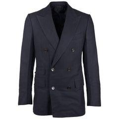 Tom Ford Black Viscose Shelton Double Breasted Jacket