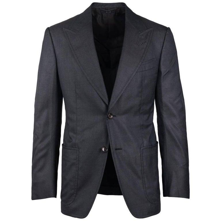 Tom Ford Charcoal Gray Fit D Spencer Sport Jacket