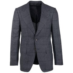 Tom Ford Grey Silk Shelton Windowpane Sport Jacket