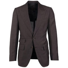 Tom Ford Brown Wool Blend Shelton 2PC Suit