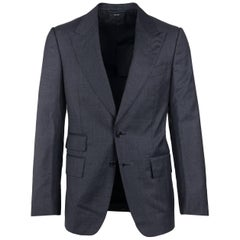 Tom Ford Gray Wool Shelton Glen Check Two Piece Suit