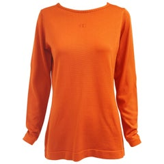Givenchy Sport Tangerine Orange Pullover Sweater, 1970s