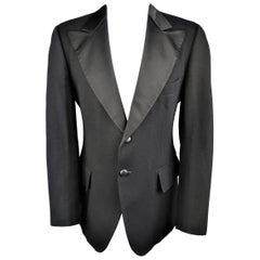 Jean Paul Gaultier Men's Wool Silk Peak Lapel Le Smoking Tuxedo Jacket