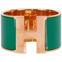 Hermes Mega Clic Clac Green Bracelet