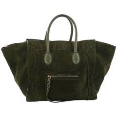Celine Phantom Handbag Suede Large