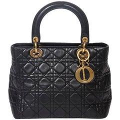 Lady Dior black cannage leather MM bag