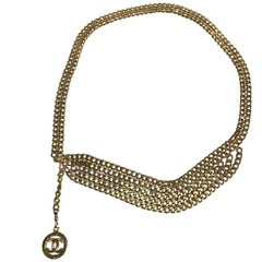 CHANEL Vintage Gilded Metal Chain Belt