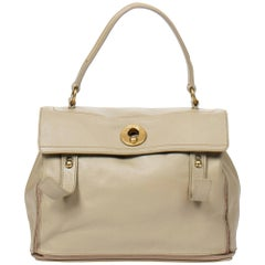 Yves Saint-Laurent Muse 2 MM in light grey grained leather