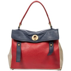 Yves Saint-Laurent Muse 2 Tricolor MM bag in blue