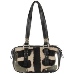 YVES SAINT LAURENT Pony Hair Leather HANDBAG Shoulder Bag