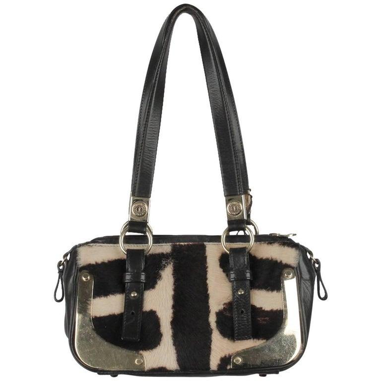 YVES SAINT LAURENT Pony Hair Leather HANDBAG Shoulder Bag