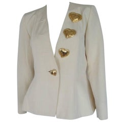 yves saint laurent gold heart buttons jacket