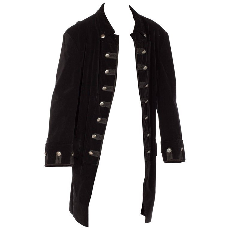 XL Mens 18th Century Style Velvet Frock Coat