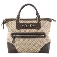 Gucci Catherine Tote Diamante Canvas with Leather Large