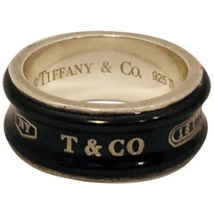 Tiffany & Co. Sterling Silver and Titanium Band Ring