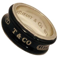 Tiffany & Co. Sterling Silver and Titanium Band Style Ring