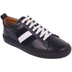 Bally Men's Henton Black Leather Low Top Sneakers
