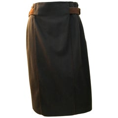Gucci Skirt w/ Leather Belt - Rare