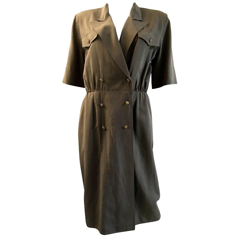 Gucci Vintage military beige taupe light brown Dress