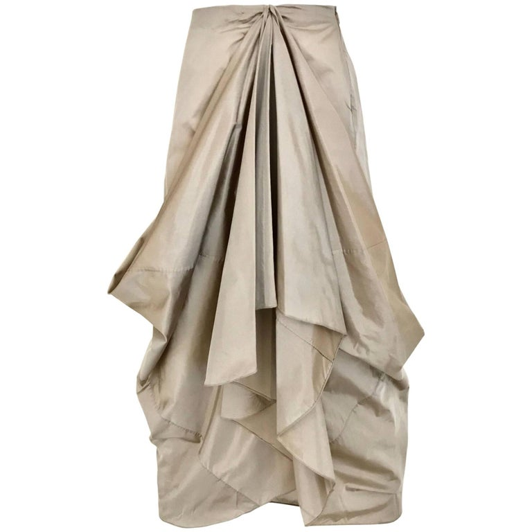 Vintage Giorgio Armani Origami Pleat Silk Skirt