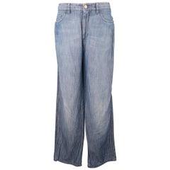 Men's BRIONI Size 32 Blue Light Weight Denim STraight Leg Jeans