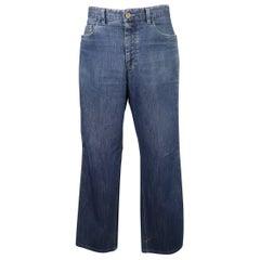 Men's BRIONI Size 34 Indigo Washed Denim Straight Leg Jeans