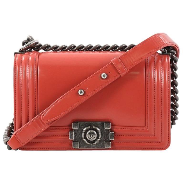 fa7b27897e696f Chanel Reverso Boy Flap Bag Glazed Calfskin Small at 1stdibs