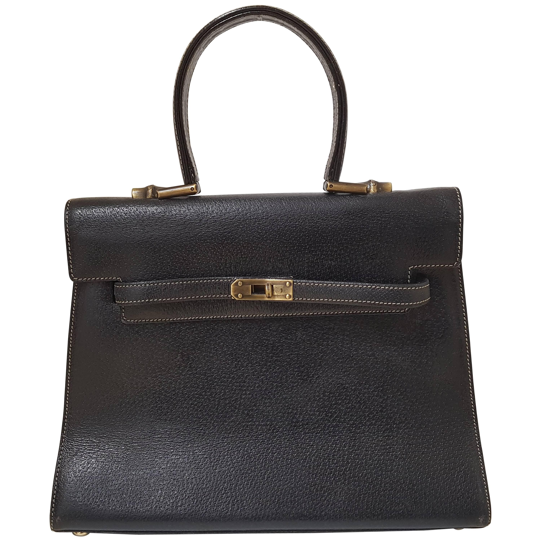 Moschino kelly Black Leather Bag 4atTRV