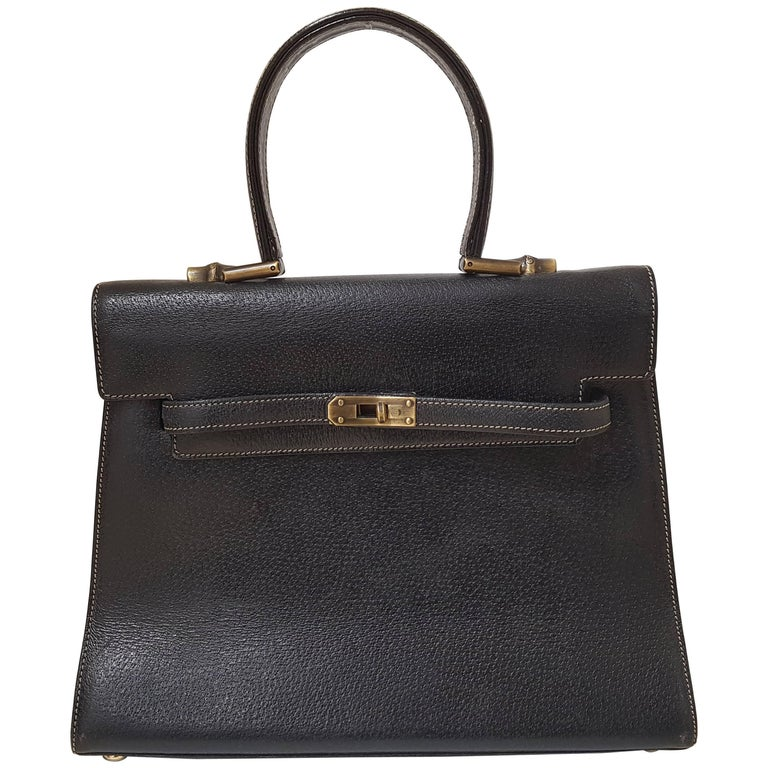 """Moschino """"Kelly"""" Black leather bag"""