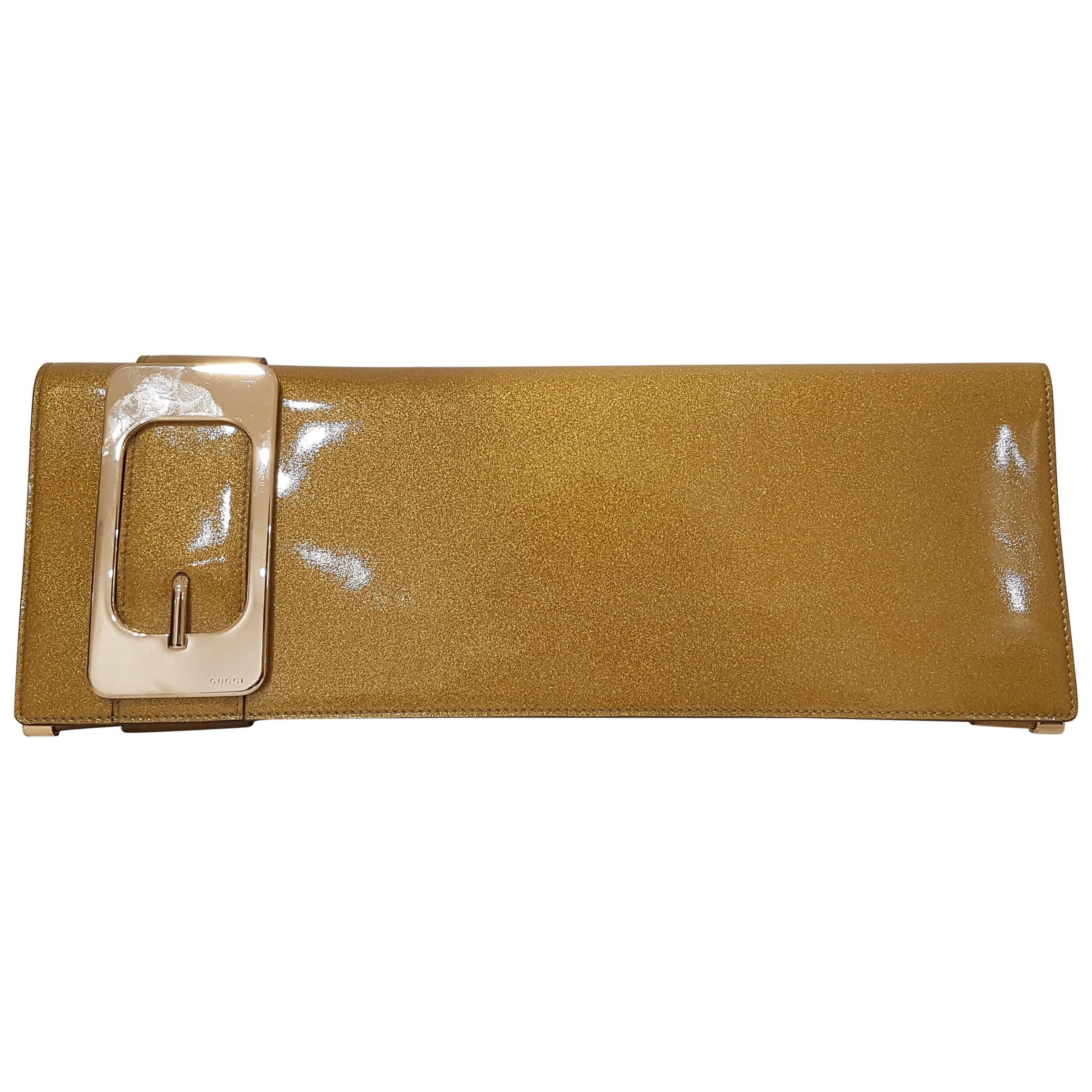 Gucci Gold Tone Clutch okmSVPc