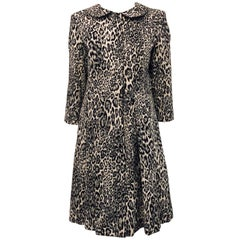 Magical Moloh In & Out of Town SS14 Black & White Animal Print Coat Dress