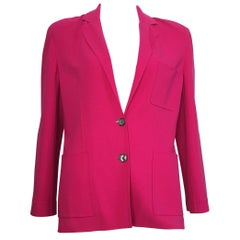 Celine Pink Wool Jacket with Pockets Size 8.