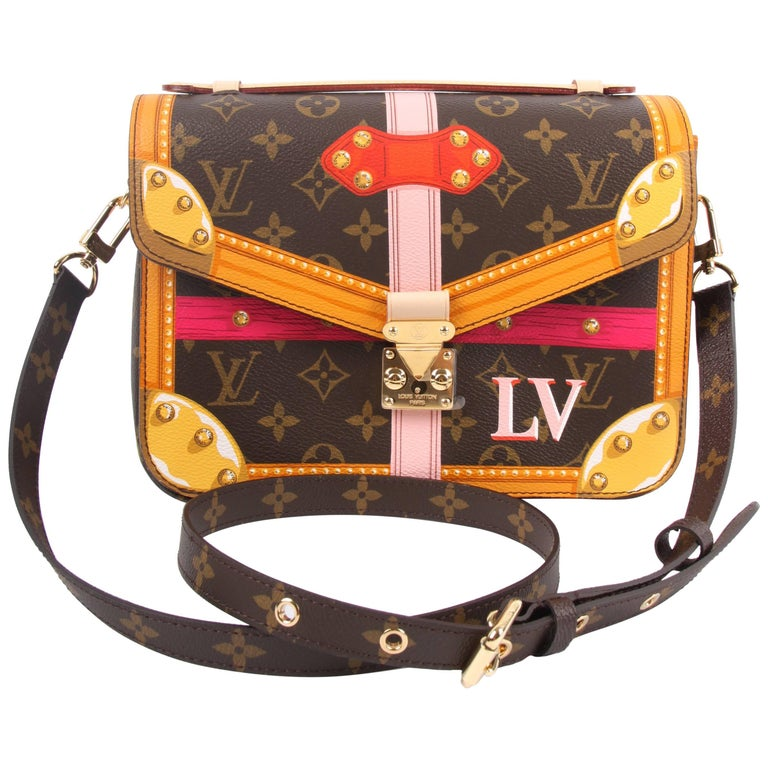 1266b1a4c5c3 Louis Vuitton Brown and Pink Limited Edition Metis Handbag