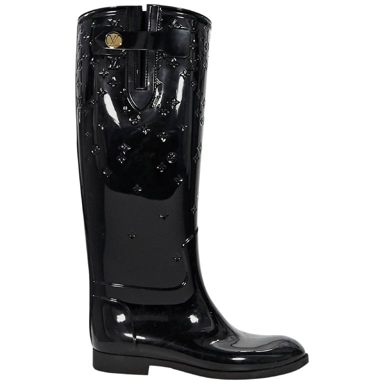 Pink Louis Vuitton Rain Boots