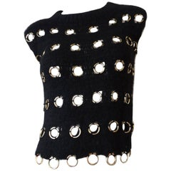 1990s O-Ring Grommet Knit Top