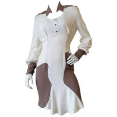 1980s Thierry Mugler Futuristic Baby Doll Dress