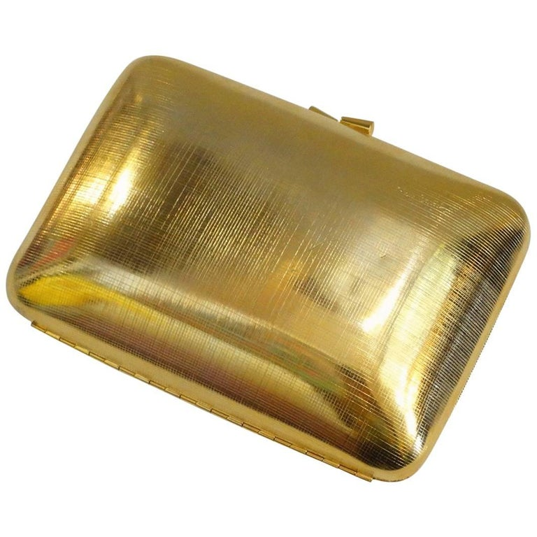 1980s Pierre Cardin Gold Metal Evening Bag