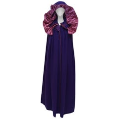 Yves Saint Laurent YSL  Purple Cape Coat  Vintage