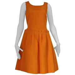 Oscar de La Renta 2008 Resort Runway Tangerine Silk Faille Dress NWT (6)