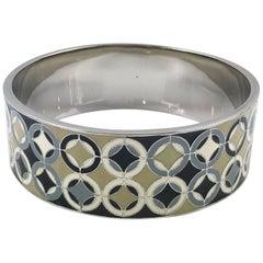 Celine Paris Modernist Enamel Bangle Bracelet