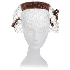 Velvet Cage Veil Ring Hat, 1960s