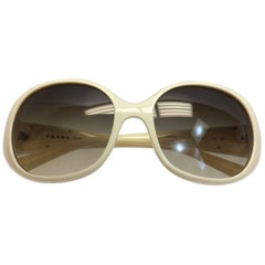Prada Cream Sunglasses
