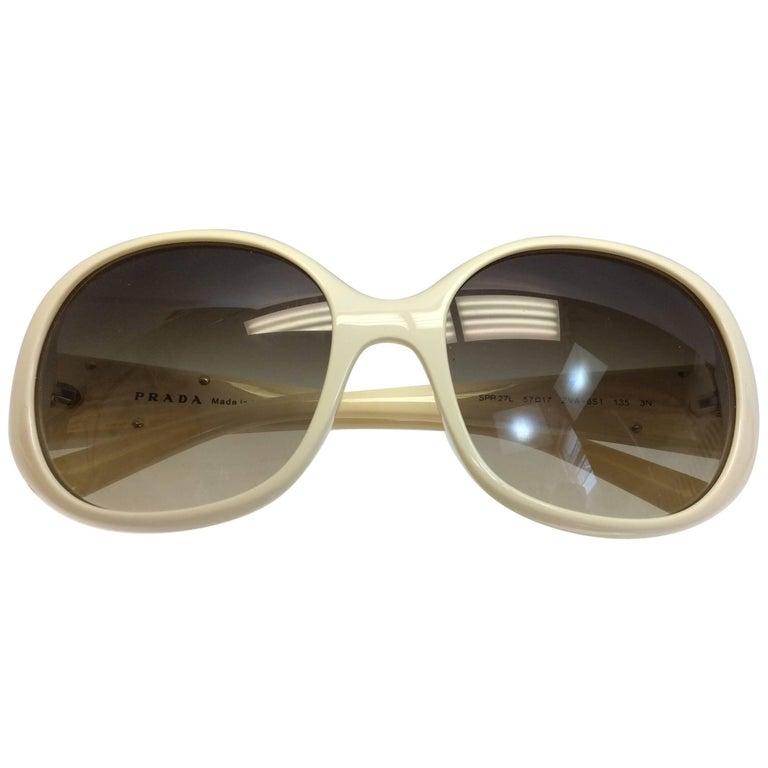 Prada Cream Sunglasses