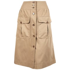 1970's YVES SAINT LAURENT khaki safari skirt
