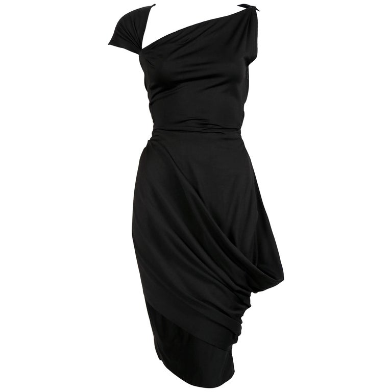 1950's PEDRO RODRIGUEZ silk jersey haute couture dress